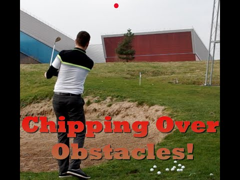 Golf Chipping over Obstacles with confidence