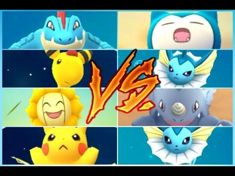 Pokémon GO Gym Battles Level 6 Gym Porygon 2 Ampharos Pikachu Scizor Sunflora Feraligatr & more