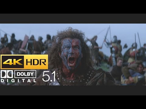 Braveheart - Battle Of Stirling Infantry Charge (HDR - 4K - 5.1)