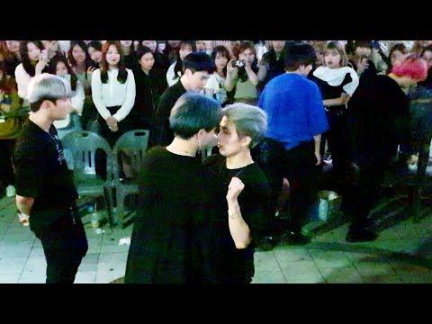 《BTS_#Fire》20190613#KingdomS(킹덤즈) 방탄소년단#불타오르네 홍대버스킹 20190613_215435 #SnowHorse