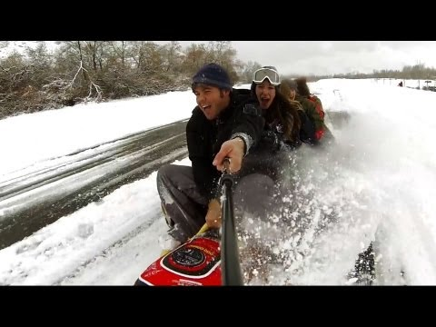 Extreme Road Tubing - 30 MPH...