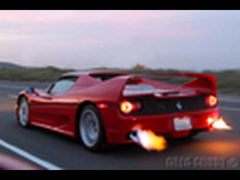 Ferrari F50 SHOOTING FLAMES-Preview Video