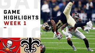 Video Buccaneers vs. Saints Week 1 Highlights | NFL 2018 MP3, 3GP, MP4, WEBM, AVI, FLV April 2019