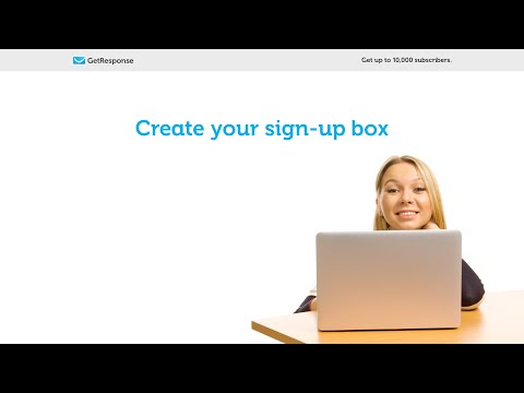 GetResponse List Building Program: Create your sign-up box [Lesson 5]