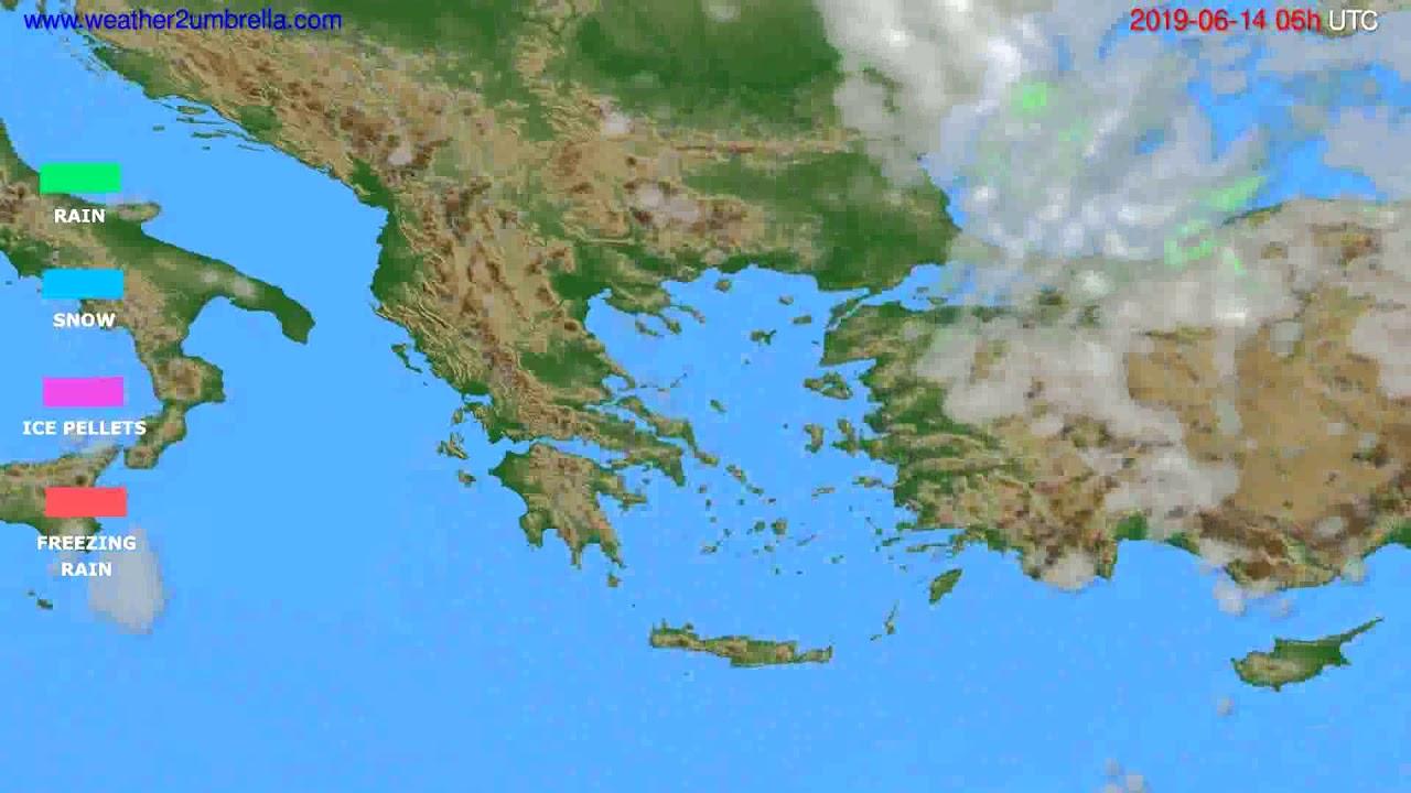 Precipitation forecast Greece // modelrun: 12h UTC 2019-06-11