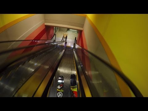 GoPro: Skiing Down a Series of Mall Escalators