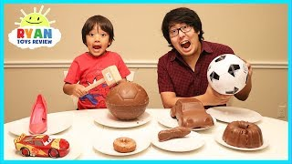 Video Chocolate Food vs Real challenge with Ryan ToysReview! MP3, 3GP, MP4, WEBM, AVI, FLV Juni 2018
