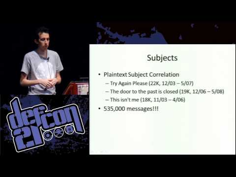 DEF CON 21 - Tom Ritter - De Anonymizing Alt Anonymous Messages