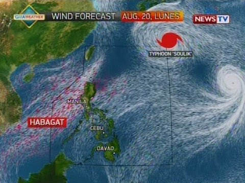 Weather update as of 1210 p.m. August 20, 2018