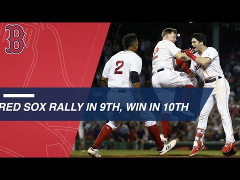 Red Sox tie the game in the 9th, walk off in the 10th
