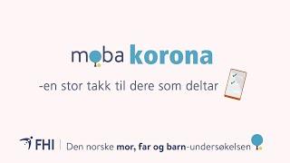 Koronaforskning: Stor takk til MoBa-deltakere