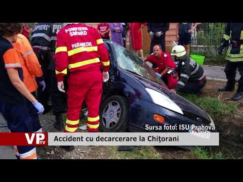 Accident cu decarcerare la Chiţorani