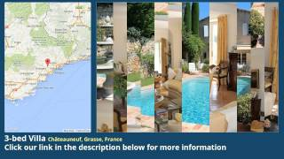 Chateauneuf-Grasse France  City new picture : 3-bed Villa for Sale in Châteauneuf, Grasse, France on frenchlife.biz