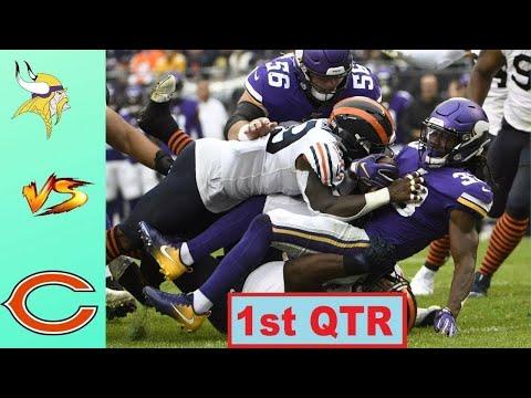 Chicago Bears vs Minnesota Vikings Highlights 1st QTR   Week 10   NFL 2020