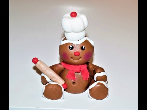 Cake decorating tutorials | how to make a gingerbread man cake topper | Sugarella Sweets