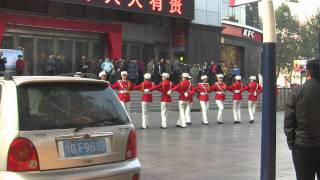 Xinxiang China  city photos gallery : Beautiful Chinese Women Marching in Xinxiang 新乡