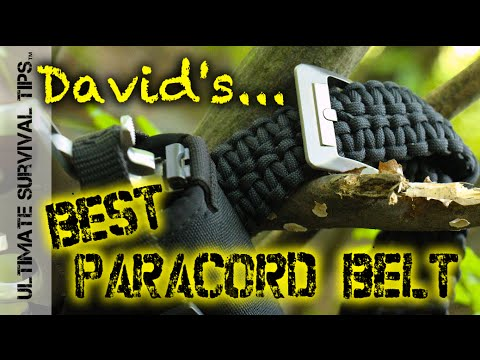 NEW! Rattlerstrap Paracord Survival Belt – for Bushcraft, EDC, Bug Out, Tactical – Best