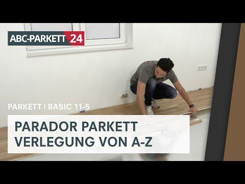 PARADOR Parkett Basic 11-5 richtig verlegen