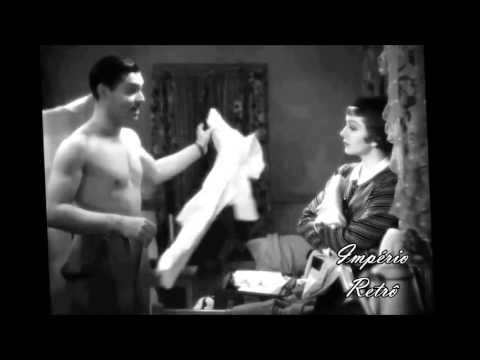 "Clark Gable & Claudette Colbert in scene of ""It Happened One Night"" (1934)"
