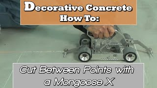 Decorative Concrete How To:  Cut Between Points with a Mongoose X