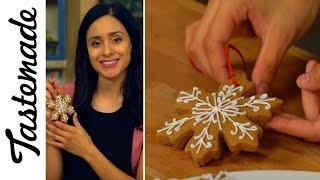 DIY Gingerbread Cookie Ornaments l The Tastemakers-Jessica Vargas by Tastemade
