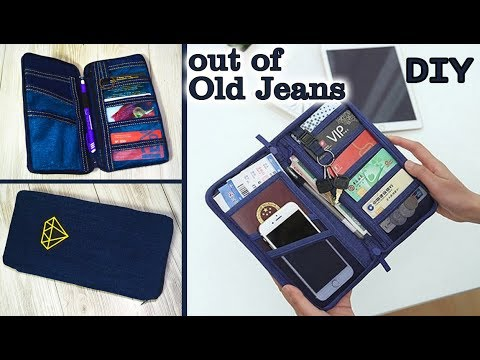 DIY JEANS PURSE BAG/ Cute Pouch Phone Money Bag/ Old Jeans Recycle Idea