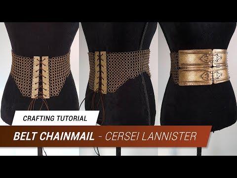 CraftingTutorial - Cersei Lannister Worbla Belt Chainmail