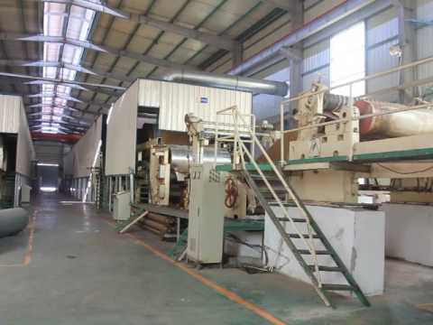 Paper insole board machine in production