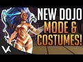 SFV - New Dojo Mode Update n Costumes! Custom Stage With Clans For Street Fighter 5 Arcade Edition