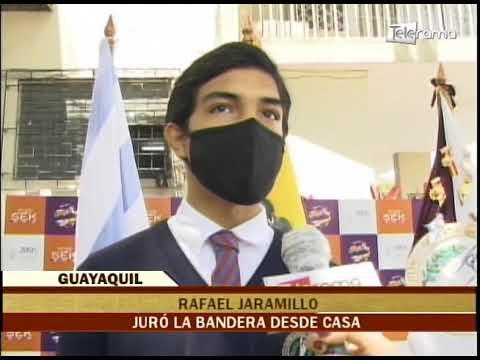 Estudiantes juraron la bandera desde casa debido a la pandemia