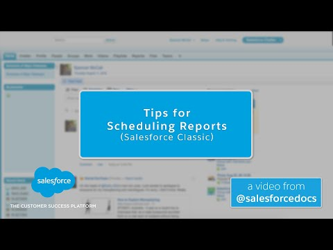 Tips for Scheduling Reports