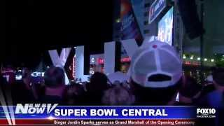 FOX 10 News Now - Super Bowl Central Kickoff in Downtown Phoenix with Jordin Sparks