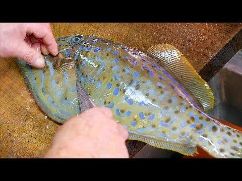 Japanese Food - LEATHER JACKET Sashimi Okinawa Seafood Japan - Thời lượng: 22 phút.
