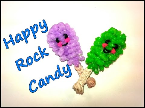 3-D Happy Rock Candy Tutorial by feelinspiffy (Rainbow Loom)