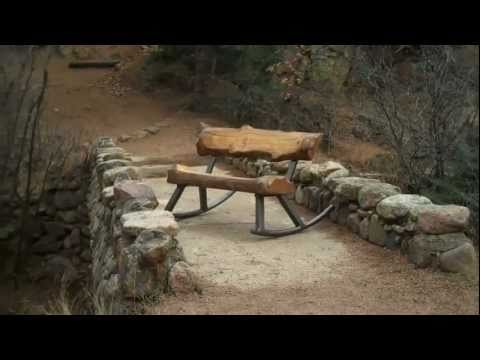 Mountain Style Log Furniture by Artisan Mitchell Dillman (видео)