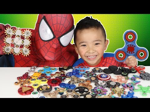 45 Must Have FIDGET SPINNERS!! Spiderman's Collection (видео)