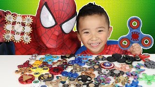 Video 45 Must Have FIDGET SPINNERS!! Spiderman's Collection MP3, 3GP, MP4, WEBM, AVI, FLV Desember 2018