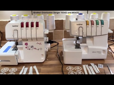 Brother Overlocker Serger 1034D upgraded to Lock M343D 343 - First Impression Out of the box