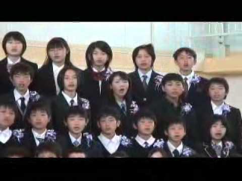 卒業式 泉小学校校歌 20110318