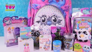 Today we have a brand new Hatchimals Surprise Backpack to share with you.  Our backpack is filled with tons of blind bag toys like Shopkins, Gift Ems, Silly Scoops & Num Noms Lights.  Also Lil Bombshells, My Little Pony, Grossery Gang series 3 & more.  Let us know in the comments which toy you liked the best.****************************************************************************************************Welcome to PSToyReviews where Paul, Shannon & Simon the cat open all kinds of fun toys.  We love blind bags here including Shopkins, Disney, My Little Pony MLP, Tokidoki Moofia, Unicornos, Lego & tons of others.  We also love hidden surprise eggs & mystery toys.  You will find us opening unboxing toys, playsets and all sorts of kids toys including reviews, play & arts & crafts fun.  Don't forget the Play-Doh creations or slime either because it's so much fun.  Leave a comment while you are here, we love hearing from our fans.****************************************************************************************************Subscribe to PSToyReviews here: http://tinyurl.com/qfqtrbr****************************************************************************************************Other Places To Find Ushttps://www.instagram.com/pstoyreviewshttps://twitter.com/pstoyreviewshttps://www.facebook.com/pstoyreviews****************************************************************************************************Check Out Some Of Our Other Videos In PlaylistsShopkins - season 1, 2, 3, 4, Food Fair, Playsets, Shoppies http://bit.ly/1VHfBBRBlind Bag Treehouse Episodes http://bit.ly/1S2HOjQPaul vs Shannon - Who Will Win?  http://bit.ly/1WjUlCGBath Bombs Fizzies http://bit.ly/1qA35INPlay-Doh Surprise Eggs & Challenges http://bit.ly/1Ngw7lyBlind Bags Paloozas http://bit.ly/23rPDVmDisney Fun Including Princesses  http://bit.ly/23kpdbvArts & Crafts (Crayola Coloring, custom DIY Shopkins & more) http://bit.ly/1SWnD7zToy Hunting, Surprise Presents & Hauls http://bit.ly/1RXqJWg****************************************************************************************************Don't forget to like, subscribe and share our channel with your friends.  This way we can keep bringing you even more videos.  :-)****************************************************************************************************We are not accepting fan mail at this time.  Thank you so much to our wonderful fans.  If you have a drawing for us you can share it on our Instagram or Facebook page.****************************************************************************************************Business inquires only  paulandshannonstoyreviews@gmail.com****************************************************************************************************