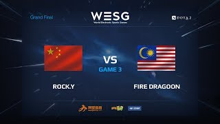 Rock.Y против Fire Dragoon, Третья карта, WESG 2017 Grand Final