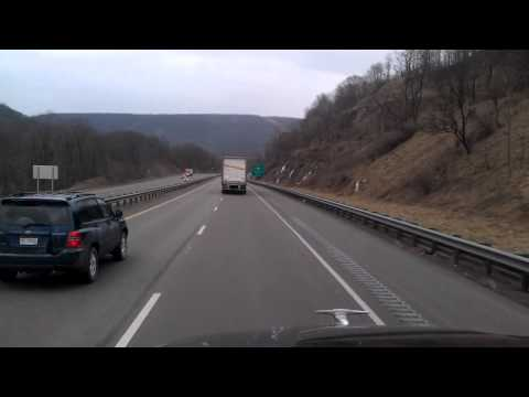 maryland - Travelling Eastbound on the National Freeway Interstate 68 near Cumberland, Maryland as we go on a 13 mile downhill ride at 6%