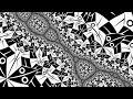 """M.C.Escher """"Circle Limit I"""" in a fractal."""