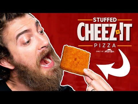 Cheez-It Pizza Hut Stuffed Pizza Taste Test