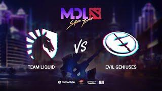 Team Liquid vs Evil Geniuses, MDL Macau 2019, bo5, game 4, [Jam & Maelstorm]