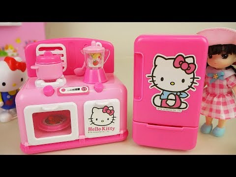 Hello Kitty kitchen and baby doll toys play