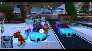 racing the bugatti vs all cars in jail break(epic race)