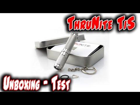 ThruNite Mini Schlüsselanhänger-Taschenlampe T Serie Unboxing-Test