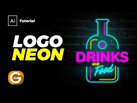 Illustrator Tutorial | Diseño Logo Luz De Neon | Neon Light Logo Design