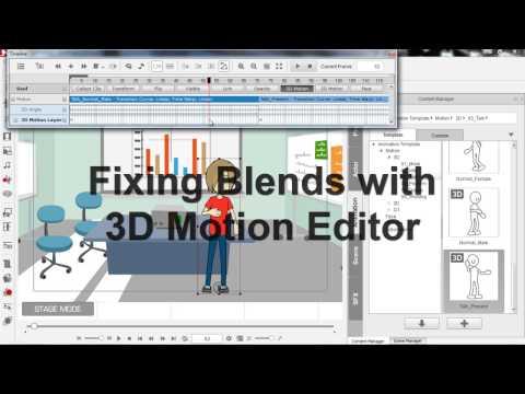 CrazyTalk Animator 2 Tutorial – Motion Clip Blending
